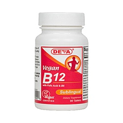 Deva Vegan B12 Sublingual Vitamins