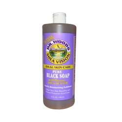 Dr. Woods Pure Black Soap With Organic Shea Butter