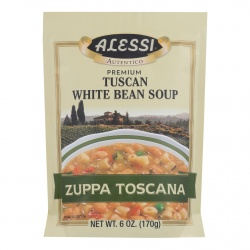 Alessi Tuscan White Bean Soup - Case of 6 -6 oz