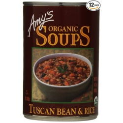 Amy's Soup,  Tuscan Beans and Rice
