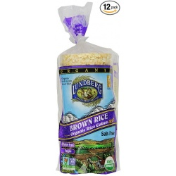 Lundberg Family Farms Unsalted Organic Brown Rice Cakes